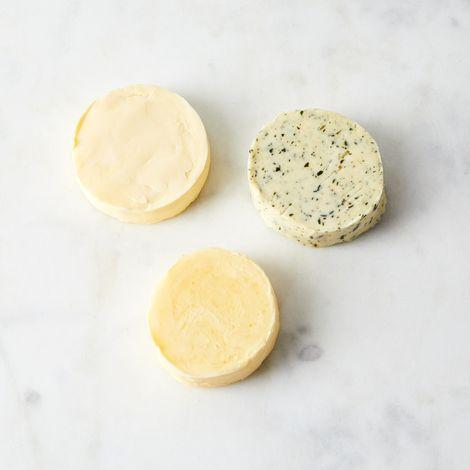 Small Batch Grass-Fed Cultured Cream Butter (Set of 3)