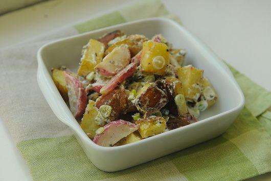 Roasted Radish and Potato Salad with Black Mustard and Cumin Seed