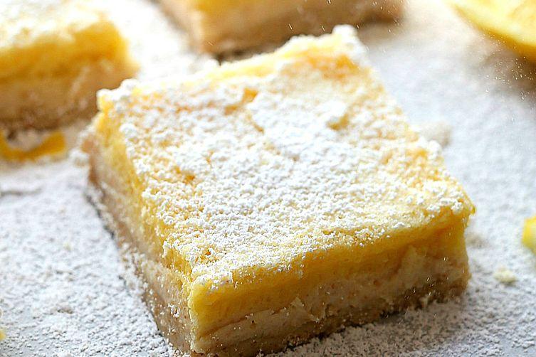 Healthier Gluten-Free Lemon Bars