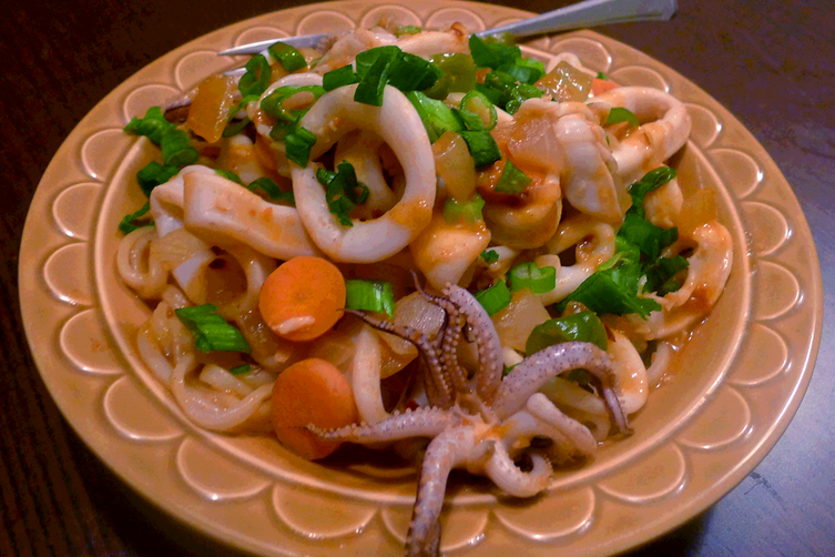 Nakji Bokkeum (Korean style octopus in Spicy Sweet Sauce)