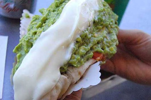 Guac Italiano Hot Dog -  the Go-To hot dog from Chile spiced up a bit.