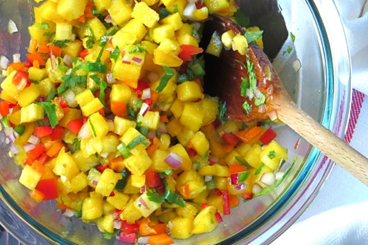 pineapple and mango salsa