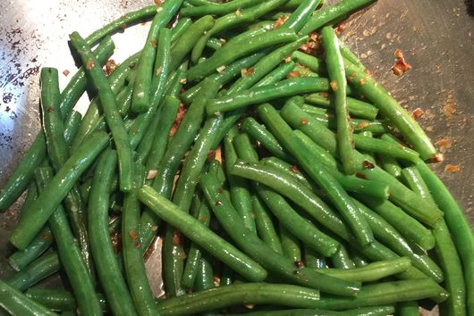 Seared String Beans w Fish Sauce and Garlic