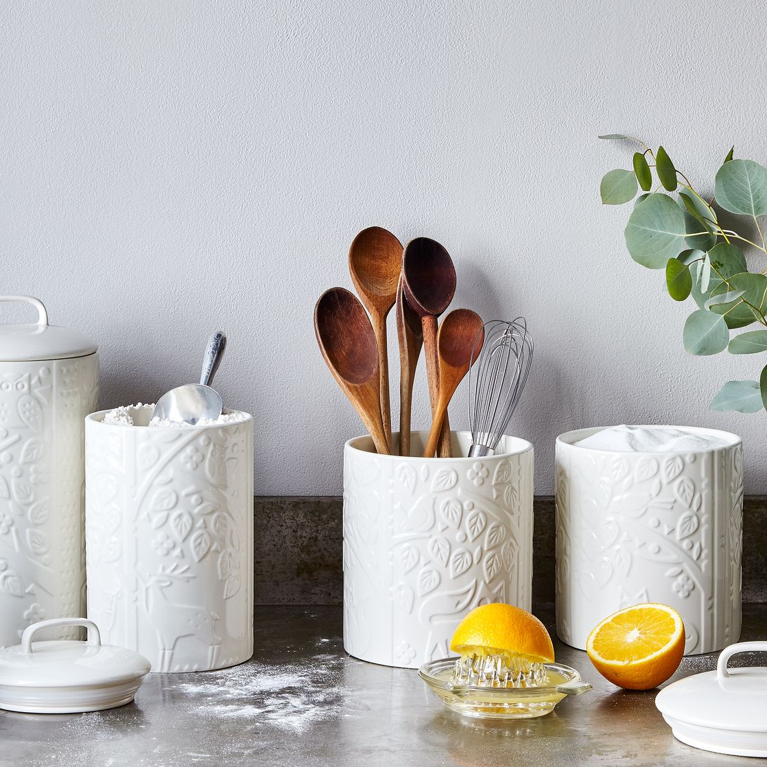 mason cash forest kitchen canisters on food52 mason cash forest kitchen canisters