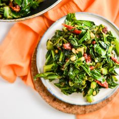 Collard Greens with Sun Dried Tomatoes and Pine Nuts