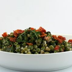 Peas with Pancetta, Mint and Crème Fraiche