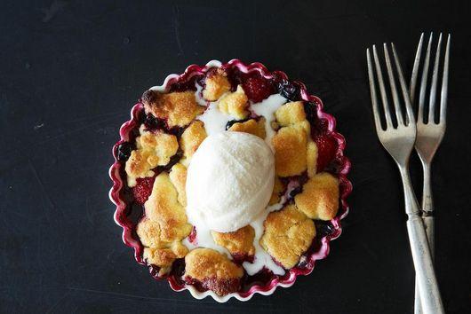 Joan Nathan's Red, White, and Blue Fruit Crisp