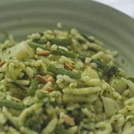 Trofie Pasta with Basil and Pine Nuts - (Trofie al Pesto)