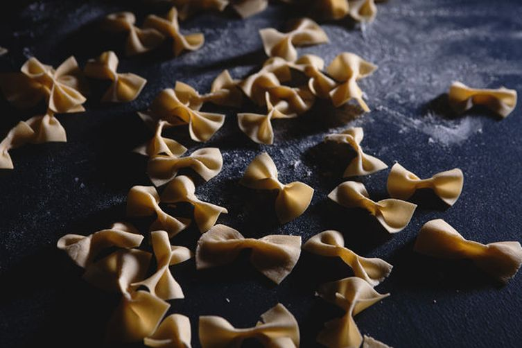 Homemade Farfalle