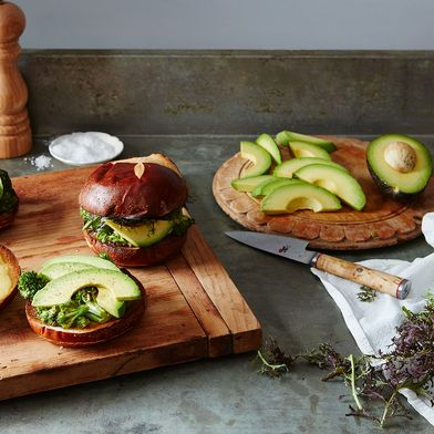 Pretzel Avocado Sandwich