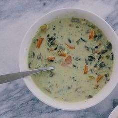 Lemon, Basil, and Mushroom Soup