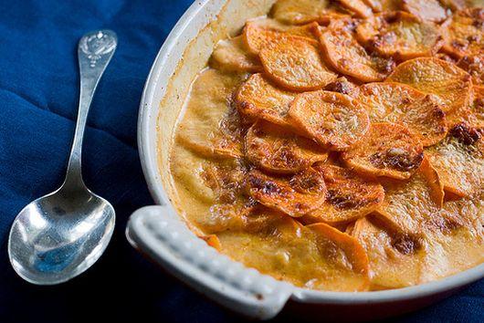 Sweet Potato Gratin with Smoked Paprika and Cayenne