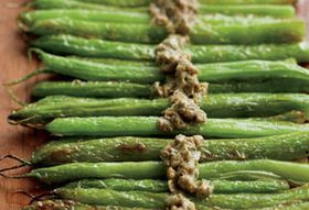 Vedge's Seared French Beans with Caper Bagna Cauda