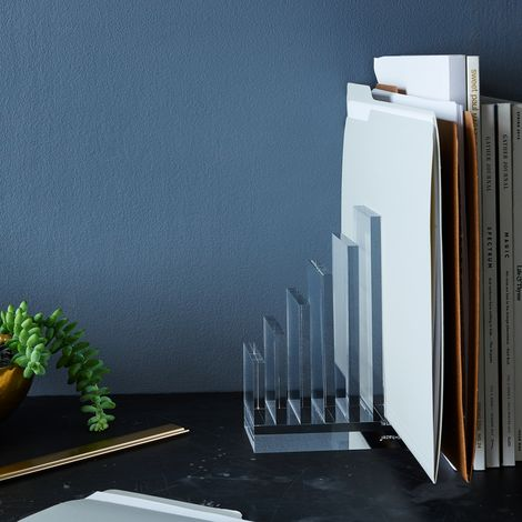 Acrylic Collator Bookends (Set of 2)