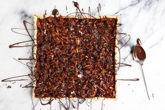 Caramel Nut Tart with Chocolate