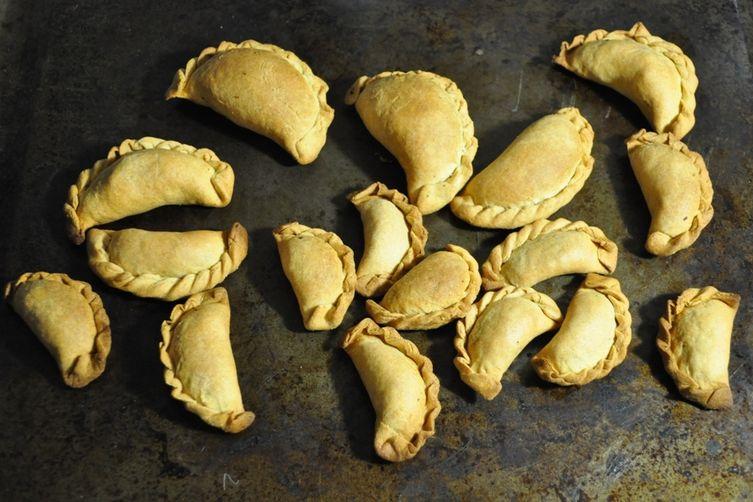Fresh Chickpea and Peas Empanada