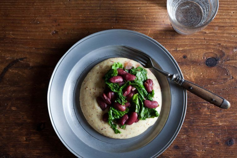 Cranberry Beans and Kale on Food52