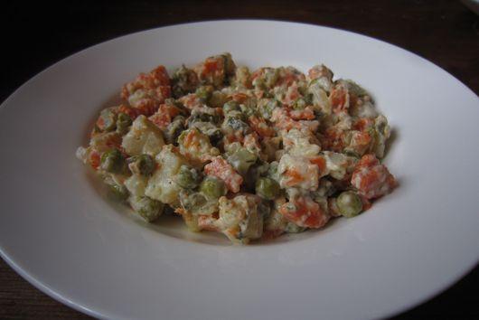 Chopped potato salad