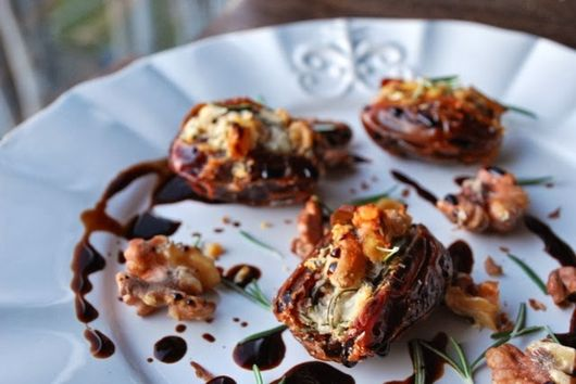 savory roasted stuffed dates