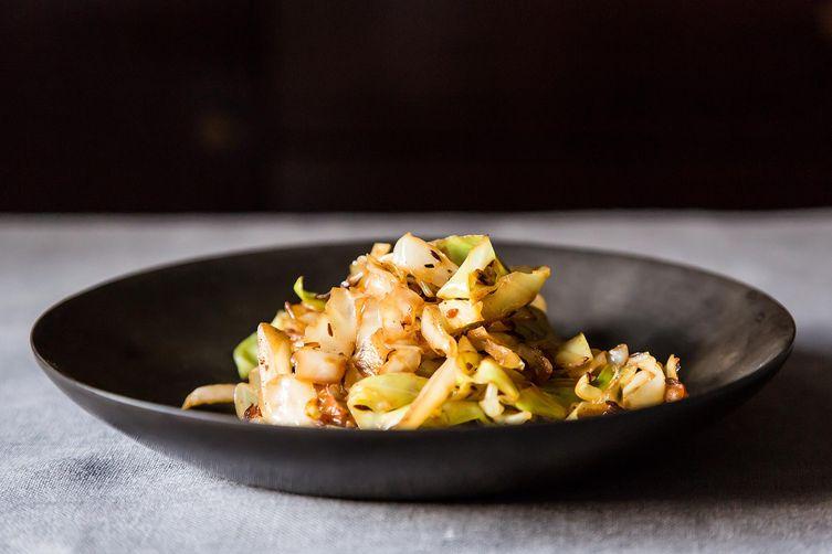 Madhur Jaffrey's Stir-Fried Cabbage with Fennel Seeds