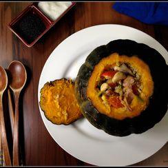 Smoked Duck Szechuan Pepper Stuffed Pumpkin + Rendered Duck Fat