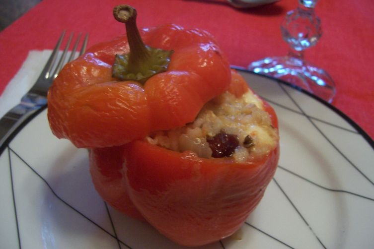 Stuffed Peppers with Feta & Dried Cherries