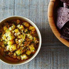 Grilled Corn Salsa and Feta Quesadillas with Fresh Pico de Gallo