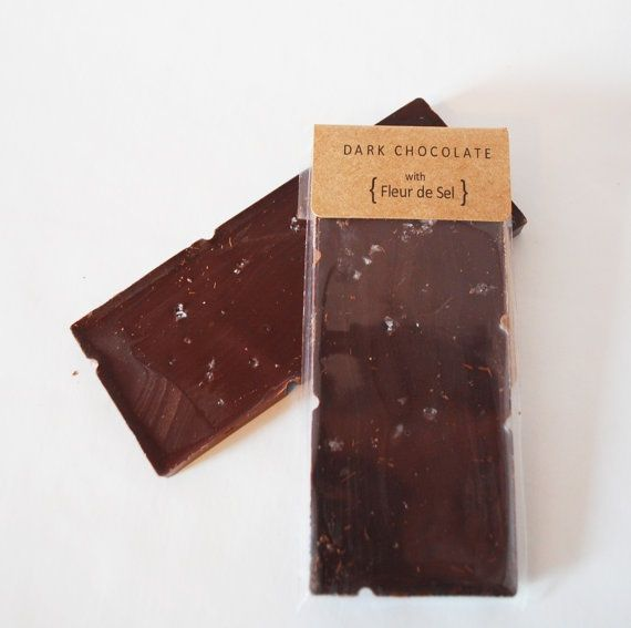 Dark chocolate with fleur de sel