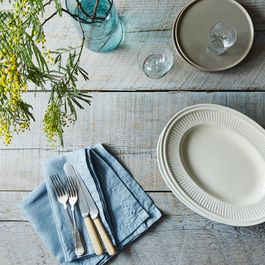 Blue Linen Napkins (Set of 2)