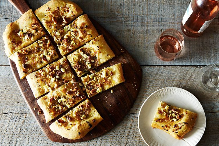 Glazed Shallot, Walnut, and Sage Pizza on Food52