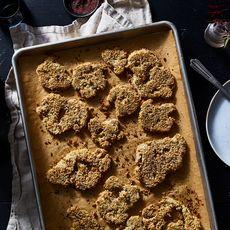 Crispy, Cheesy, Tahini-Roasted Cauliflower