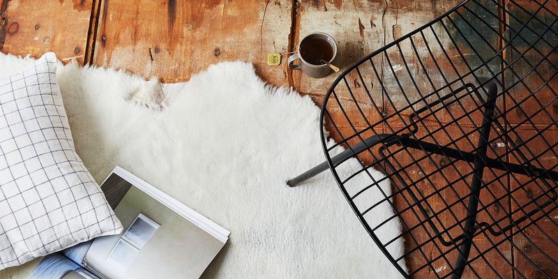 Food52's new line of sheepskin from Farmhouse Pottery.