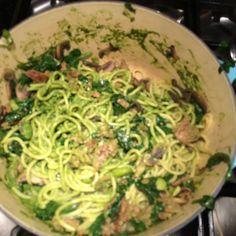 Spring time pesto pasta