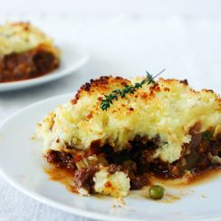 Chunky Shepherd's Pie with Panko Parmesan Crust