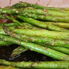 Roasted Asparagus and Melon Salad