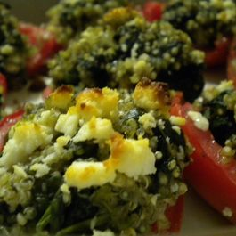 Tomatoes Stuffed with Quinoa, Spinach and Feta