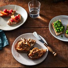 Buttery Minty Pea Toast