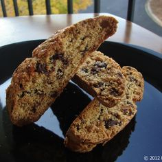 Biscotti with Lime and Chocolate-Covered Espresso Beans