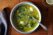 A Lighter Spinach and Parmesan Egg Drop Soup