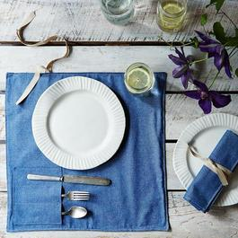 Denim Flatware Place Setting