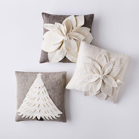 Handmade Holiday Felt Pillows