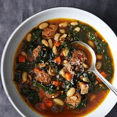 White Bean and Kale Soup with Sausage