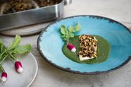 Yotam Ottolenghi and Ramael Scully's Pistachio and Pine Nut-Crusted Halibut