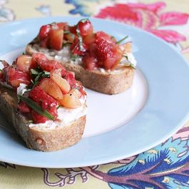Pickled Strawberry Tartine