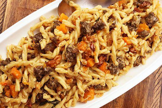 Fullblood Wagyu Sweet Italian Sausage Pasta with Butternut Squash