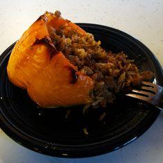 Spicy Asian Stuffed Peppers w/ Sweet Soy Glaze