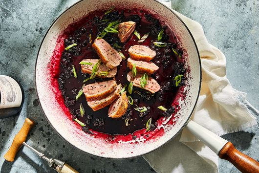 Duck Breast With Blueberry-Port Sauce