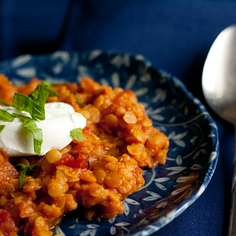 Berbere-Spiced Red Lentils With Yogurt