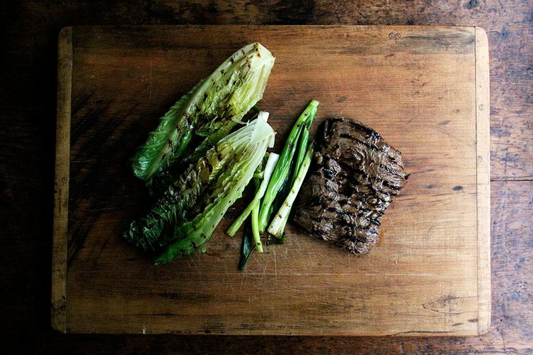 Grilled Steak and Romaine Salad with Coconut Dressing