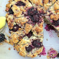Blackberry and Walnut Scones with Vanilla Bean Lemon Curd